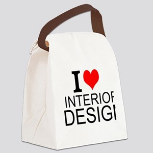 I Love Interior Design Canvas Lunch Bag