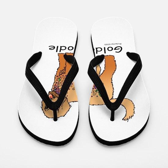 Tangle Goldendoodle Flip Flops