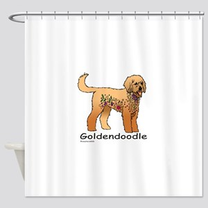 Tangle Goldendoodle Shower Curtain