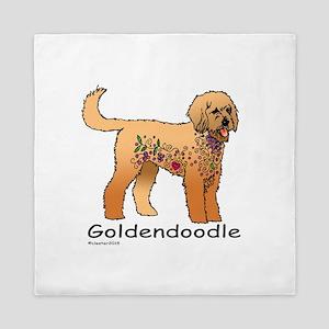 Tangle Goldendoodle Queen Duvet
