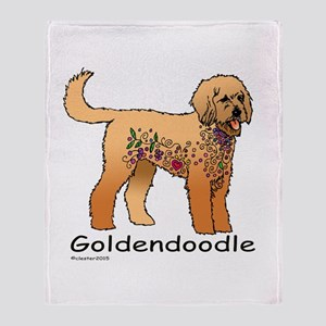 Tangle Goldendoodle Throw Blanket