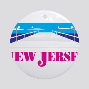 New jersey Round Ornament