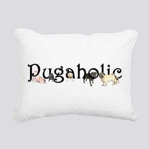 Pugaholic Rectangular Canvas Pillow