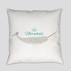 Narwhals Everyday Pillow