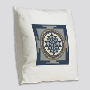 SriYantra_Uni_Lrg Burlap Throw Pillow