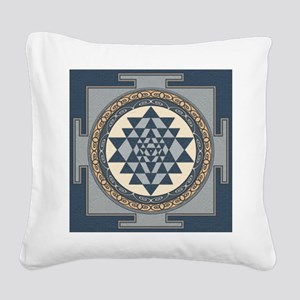 SriYantra_Uni_Lrg Square Canvas Pillow