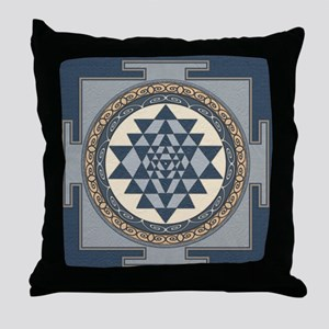 SriYantra_Uni_Lrg Throw Pillow