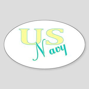 Navy Ver. 2 Oval Sticker