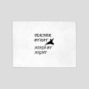 Ninja teacher 5'x7'Area Rug