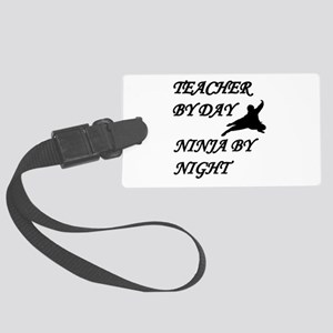 Ninja teacher Large Luggage Tag