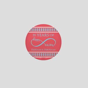 Personalized Wedding Date Anniversary, Mini Button