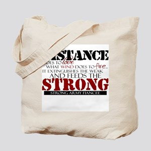 Feeds the strong: Army Fiance Tote Bag
