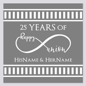 Custom Monogram Keepsake We 5.25 x 5.25 Flat Cards