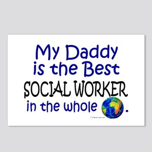 Best Social Worker In The World (Daddy) Postcards