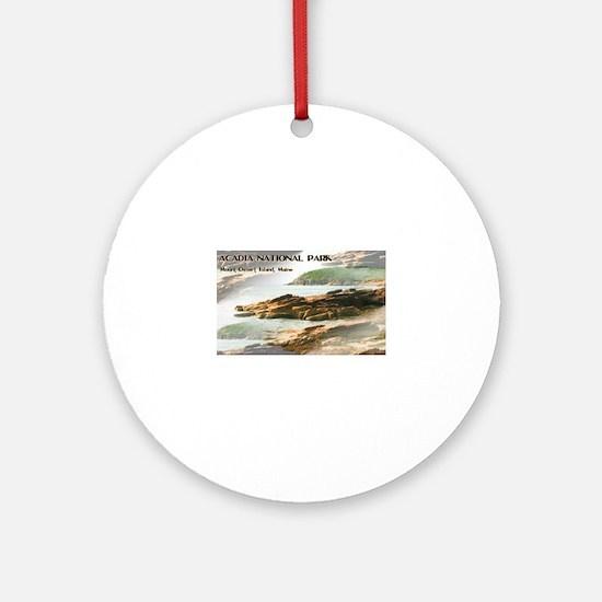 Acadia National Park Coastline Round Ornament
