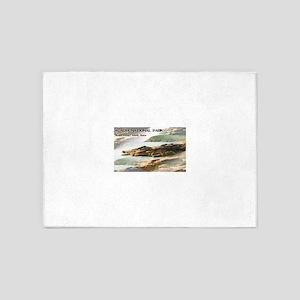 Acadia National Park Coastline 5'x7'Area Rug