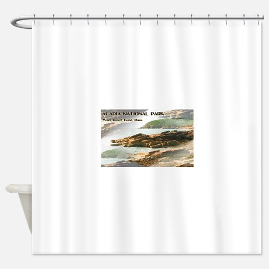 Acadia National Park Coastline Shower Curtain