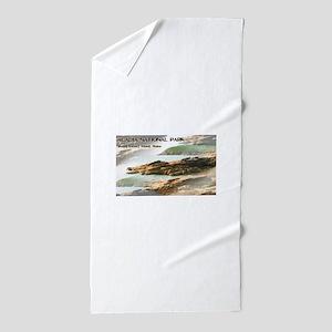 Acadia National Park Coastline Beach Towel
