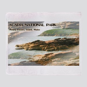 Acadia National Park Coastline Throw Blanket