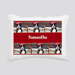 Christmas Boxer Dog Rectangular Canvas Pillow
