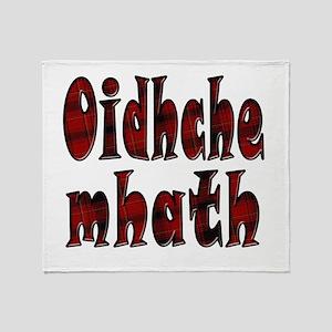 Oidhche Mhath Red & Black Tartan PJs Throw Blanket