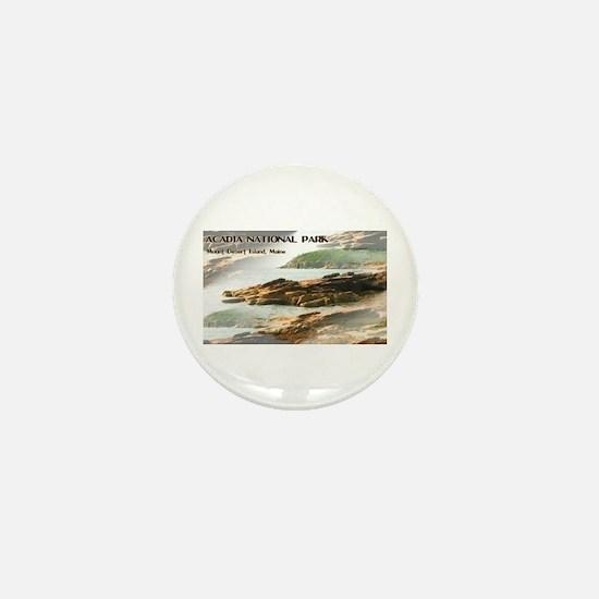 Acadia National Park Coastline Mini Button