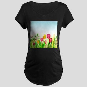 design 16 tulips Maternity T-Shirt