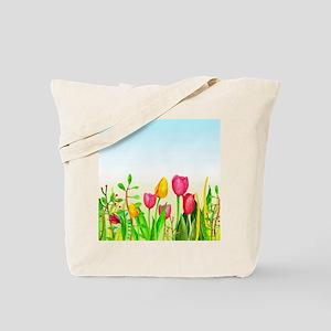 design 16 tulips Tote Bag