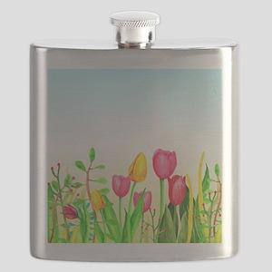 design 16 tulips Flask