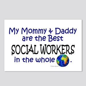 Best Social Workers In The World Postcards (Packag
