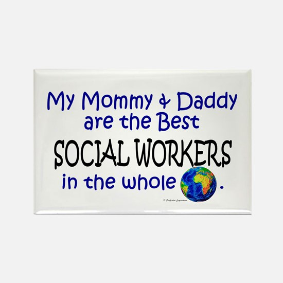 Best Social Workers In The World Rectangle Magnet