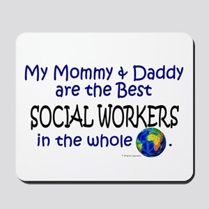 Best Social Workers In The World Mousepad