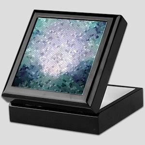 Design 15 blue Mosaic Keepsake Box