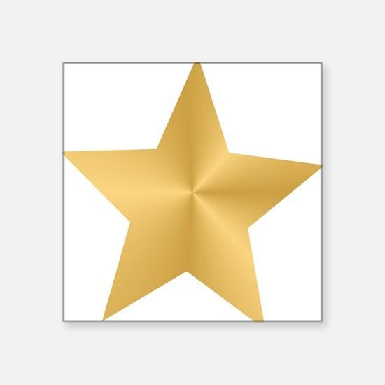 """Unique Gold Square Sticker 3"""" x 3"""""""