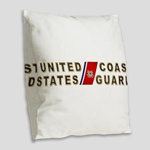 uscg_x Burlap Throw Pillow
