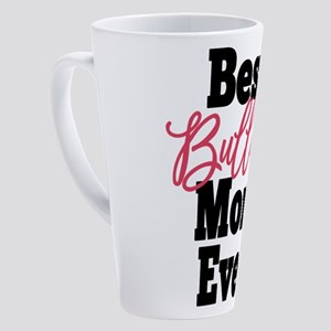 Best Bulldog Mom Ever (black and pink) 17 oz Latte
