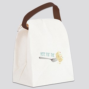 Here for the Cake Canvas Lunch Bag