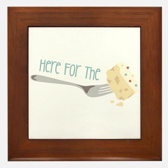 Here for the Cake Framed Tile