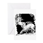 Borzoi and Unicorn<br> Greeting Cards (Pk of 20)
