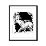 Borzoi and Unicorn<br> Framed Panel Print