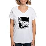 Borzoi and Unicorn<br> Women's V-Neck T-Shirt
