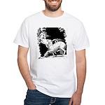 Borzoi and Unicorn<br> White T-Shirt