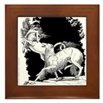 Borzoi and Unicorn<br> Framed Tile