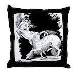 Borzoi and Unicorn<br> Throw Pillow