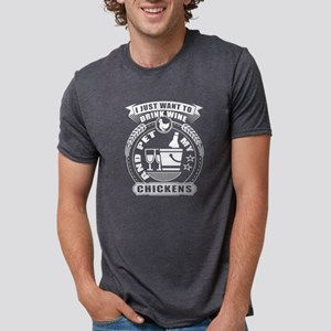 I Just Want To Pet My Chickens T Shirt T-Shirt