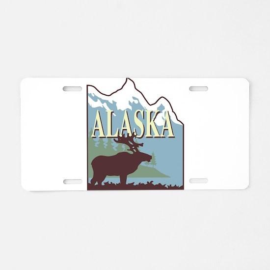alaska Aluminum License Plate