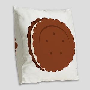 Oreo Cookie Burlap Throw Pillow