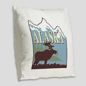alaska Burlap Throw Pillow