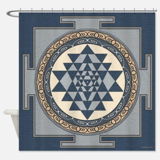 Cute Sri yantra Shower Curtain