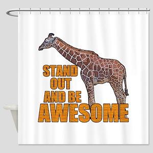 Stand Tall Giraffe Shower Curtain